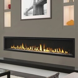 MAJESTIC ECHEL72IN-C ECHELON II 72 INCH TOP DIRECT VENT NATURAL GAS FIREPLACE WITH INTELLIFIRE TOUCH IGNITION SYSTEM