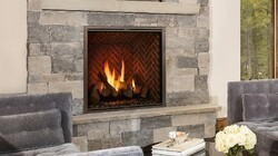 MAJESTIC MARQ42IN-B MARQUIS II 42 INCH TOP DIRECT VENT NATURAL GAS FIREPLACE WITH INTELLIFIRE TOUCH IGNITION SYSTEM