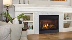 MAJESTIC QUARTZ36IL QUARTZ 36 INCH TOP OR REAR DIRECT VENT LIQUID PROPANE GAS FIREPLACE WITH INTELLIFIRE TOUCH IGNITION SYSTEM
