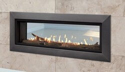 MAJESTIC ECHEL48STIN-C ECHELON II 48 INCH SEE-THROUGH TOP DIRECT VENT NATURAL GAS FIREPLACE WITH INTELLIFIRE TOUCH IGNITION SYSTEM