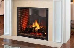 MAJESTIC MARQ42STIN MARQUIS II 42 INCH SEE-THROUGH TOP DIRECT VENT NATURAL GAS FIREPLACE WITH INTELLIFIRE TOUCH IGNITION SYSTEM