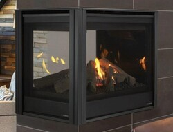 MAJESTIC PEARL36PRIN PEARL II 36 INCH PENINSULA DIRECT VENT MULTI SIDE TOP OR REAR NATURAL GAS FIREPLACE WITH INTELLIFIRE TOUCH IGNITION
