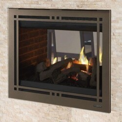 MAJESTIC PEARL36STIN PEARL II 36 INCH SEE-THROUGH DIRECT VENT MULTI SIDE TOP OR REAR NATURAL GAS FIREPLACE WITH INTELLIFIRE TOUCH IGNITION