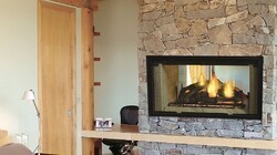 MAJESTIC DSR36 DESIGNER SERIES 36 INCH SEE-THROUGH RADIANT WOOD BURNING FIREPLACE