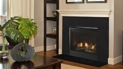 MAJESTIC MERC32IL MERCURY 32 INCH TOP OR REAR DIRECT VENT LIQUID PROPANE GAS FIREPLACE WITH INTELLIFIRE TOUCH IGNITION SYSTEM