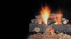 MAJESTIC FRW124 24 INCH FIRESIDE REALWOOD REFRACTORY CEMENT LOG SET