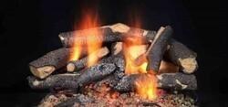MAJESTIC FSO24 24 INCH FIRESIDE SUPREME OAK REFRACTORY CEMENT LOG SET