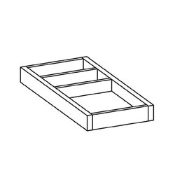 LAUFEN H4924010971 ILBAGNOALESSI ONE 8 INCH SMALL ORGANIZER FOR DRAWER