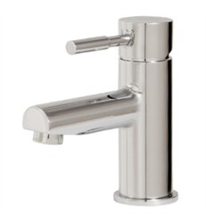 AQUABRASS ABFB27414 GEO 5 7/8 INCH SINGLE HOLE BATHROOM SINK FAUCET WITH POP-UP DRAIN