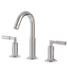 AQUABRASS ABFB27416 GEO 10 1/2 INCH THREE HOLES WIDESPREAD BATHROOM SINK FAUCET WITH POP-UP DRAIN
