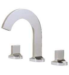 AQUABRASS ABFB39516 CUT 8 1/4 INCH THREE HOLES WIDESPREAD BATHROOM SINK FAUCET WITH POP-UP DRAIN