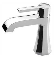 AQUABRASS ABFB53014 OTTO 6 1/8 INCH SINGLE HOLE BATHROOM SINK FAUCET WITH POP-UP DRAIN