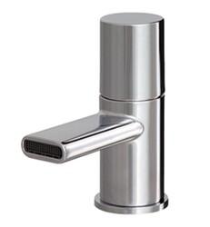 AQUABRASS ABFB54014PC MINIME 5 1/8 INCH SINGLE HOLE BATHROOM SINK FAUCET WITH POP-UP DRAIN - POLISHED CHROME