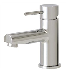 AQUABRASS ABFB61014 VOLARE STRAIGHT 5 7/8 INCH SINGLE HOLE BATHROOM SINK FAUCET WITH POP-UP DRAIN