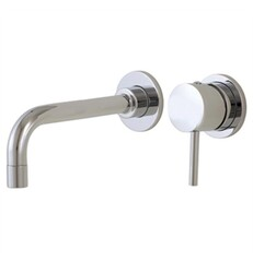 AQUABRASS ABFB61028 VOLARE STRAIGHT 7 INCH TWO HOLES WALL MOUNT BATHROOM SINK FAUCET