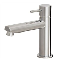 AQUABRASS ABFB61044 VOLARE STRAIGHT 5 1/8 INCH SMALL SINGLE HOLE BATHROOM SINK FAUCET WITH POP-UP DRAIN