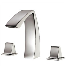AQUABRASS ABFB61616 ETNA 7 1/4 INCH THREE HOLES WIDESPREAD BATHROOM SINK FAUCET WITH POP-UP DRAIN