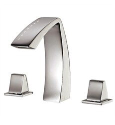 AQUABRASS ABFB61716 ETNA 7 1/4 INCH THREE HOLES WIDESPREAD BATHROOM SINK FAUCET WITH POP-UP DRAIN