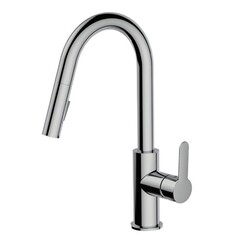 AQUABRASS ABFK6545N BARLEY 15 7/8 INCH PULL-DOWN DUAL STREAM MODE KITCHEN FAUCET