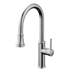 AQUABRASS ABFK6845N MARGHERITA 19 5/8 INCH PULL-DOWN DUAL STREAM MODE KITCHEN FAUCET
