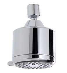 AQUABRASS ABSC00465 3 1/8 INCH WALL OR CEILING MOUNT MULTI-FUNCTION ROUND SHOWERHEAD