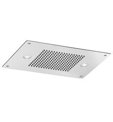 AQUABRASS ABSC00916PSS CURA AQUADEMY 16 1/2 INCH CEILING MOUNT SINGLE-FUNCTION RECTANGULAR RAIN SHOWERHEAD - POLISHED STAINLESS STEEL