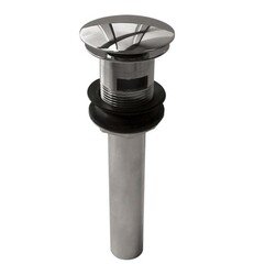 AQUABRASS ABDR00626 2 INCH ROUND PRESS POP-UP DRAIN WITH OVERFLOW