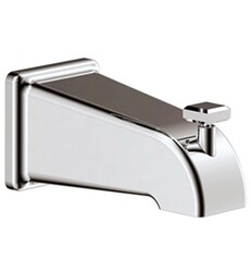 AQUABRASS ABSC10232 4 7/8 INCH WALL MOUNT TUB SPOUT WITH DIVERTER