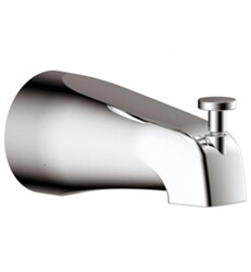 AQUABRASS ABSC10332 4 5/8 INCH WALL MOUNT TUB SPOUT WITH DIVERTER