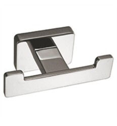 AQUABRASS ABAB03508PC SERIE 3500 3 1/2 INCH WALL MOUNT DOUBLE ROBE HOOK - POLISHED CHROME