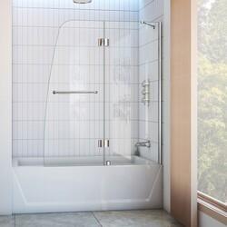 DREAMLINE SHDR-3148586 AQUA 48 W X 58 H FRAMELESS HINGED TUB DOOR
