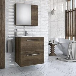 BELVEDERE BATH 1001PURB30 ZOE 30 INCH FLOATING VANITY WITH INTEGRATED PORCELAIN SINK