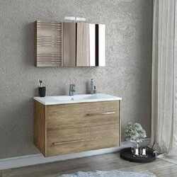 BELVEDERE BATH 1001FANP36 PHAEDRA 36 INCH FLOATING VANITY WITH INTEGRATED PORCELAIN SINK