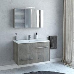 BELVEDERE BATH 1001FANSO36 THALIA 36 INCH FLOATING VANITY WITH INTEGRATED PORCELAIN SINK