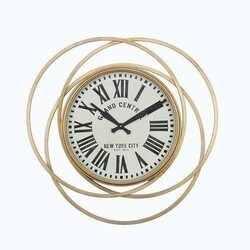 A TOUCH OF DESIGN WC1062985 KENSINGTON 28 INCH LARGE GRAND CENTRAL STATION CLOCK IN GOLD FINISH