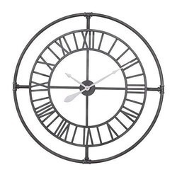 A TOUCH OF DESIGN WC1062992 HOLDEN 36 INCH LARGE MODERN INDUSTRIAL WALL CLOCK WITH ROMAN NUMERALS