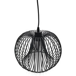 A TOUCH OF DESIGN GP3078N1 BROOKLYN MODERN BLACK WIRE PENDANT CEILING LIGHT, ROUND SHAPE