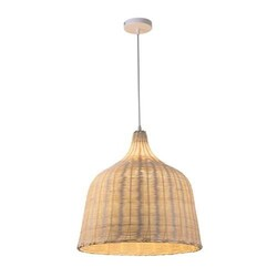 A TOUCH OF DESIGN CL1016269 SAMIRIA NATURAL RATTAN LANTERN PENDANT LIGHT ON ADJUSTABLE CABLE