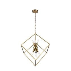 A TOUCH OF DESIGN CL1012572 HARMONY MODERN SQUARE IRON CHANDELIER IN BRASS FINISH