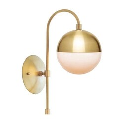 A TOUCH OF DESIGN WL1012442 KLARA SCONCE BRASS METAL MIDCENTURY MODERN WALL SCONCE
