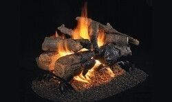 REAL FYRE CHAO-2 VENTED SEE-THRU SETS SERIES CHARRED AMERICAN OAK LOGS