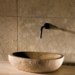 STONE FOREST C28 PEBBLE 18 INCH TO 22 INCH VESSEL BATHROOM SINK - NATURAL BOULDER