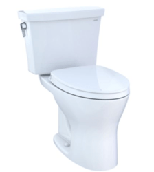 TOTO CST748CEMFG DRAKE TRANSITIONAL TWO-PIECE ELONGATED DUAL-FLUSH 1.28 AND 0.8 GPF UNIVERSAL HEIGHT DYNAMAX TORNADO FLUSH TOILET WITH CEFIONTECT