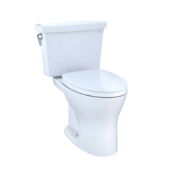 TOTO CST748CEMG DRAKE TRANSITIONAL TWO-PIECE ELONGATED DUAL-FLUSH 1.28 AND 0.8 GPF DYNAMAX TORNADO FLUSH TOILET WITH CEFIONTECT