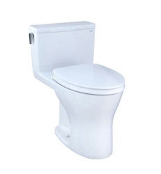 TOTO MS856124CEMG ULTRAMAX ONE-PIECE ELONGATED DUAL-FLUSH 1.28 AND 0.8 GPF DYNAMAX TORNADO FLUSH TOILET WITH CEFIONTECT AND SOFT CLOSE SEAT