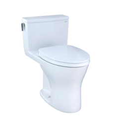 TOTO MS856124CSMG ULTRAMAX ONE-PIECE ELONGATED DUAL-FLUSH 1.6 AND 0.8 GPF DYNAMAX TORNADO FLUSH TOILET WITH CEFIONTECT AND SOFT CLOSE SEAT