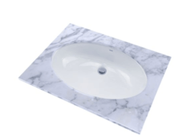 TOTO LT1506G#01 23 INCH OVAL UNDERCOUNTER LAVATORY