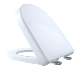 TOTO SS237R#01 SLIM D-SHAPE SOFT CLOSE SEAT IN COTTON WHITE