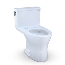 TOTO CST856CSMGAT40#01 ULTRAMAX ONE-PIECE READY ELONGATED DUAL-FLUSH 1.6 AND 0.8 GPF DYNAMAX TORNADO FLUSH TOILET WITH CEFIONTECT IN COTTON WHITE