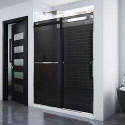DREAMLINE SHDR-6360760G ESSENCE 56-60 W X 76 INCH FRAMELESS SMOKE GRAY GLASS BYPASS SHOWER DOOR